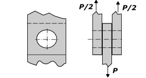 Stress concentration factor for round pin joint with closely fitting pin in finite-width plate under tension